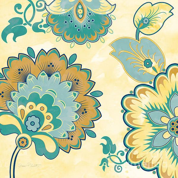 I uploaded new artwork to plout-gallery.artistwebsites.com! - 'Aqua Florals-jp3639y' - http://plout-gallery.artistwebsites.com/featured/aqua-florals-jp3639y-jean-plout.html