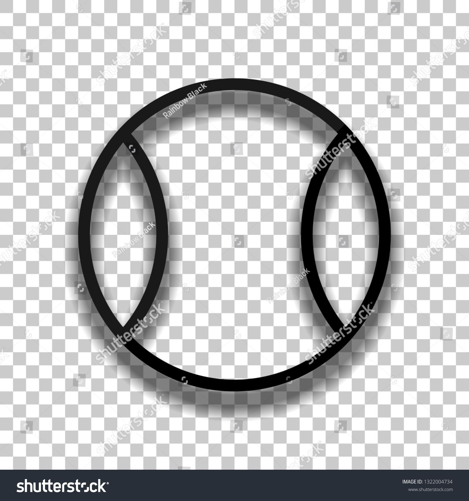Tennis Ball Sport Game Outline Linear Icon Black Glass Icon With Soft Shadow On Transparent Background Ad Ad Game Sports Games Tennis Ball Black Glass