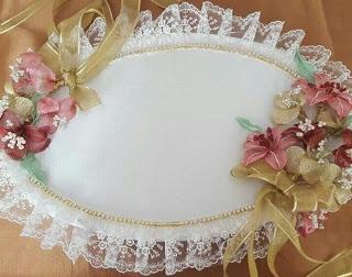اعمال يدوية بسيطة افكار رائعة لديكورات و طريقه تزيين صينية الشبكه بالخطوات والخطوات لتقديم الذهب Rose Embroidery Wedding Glass Decor