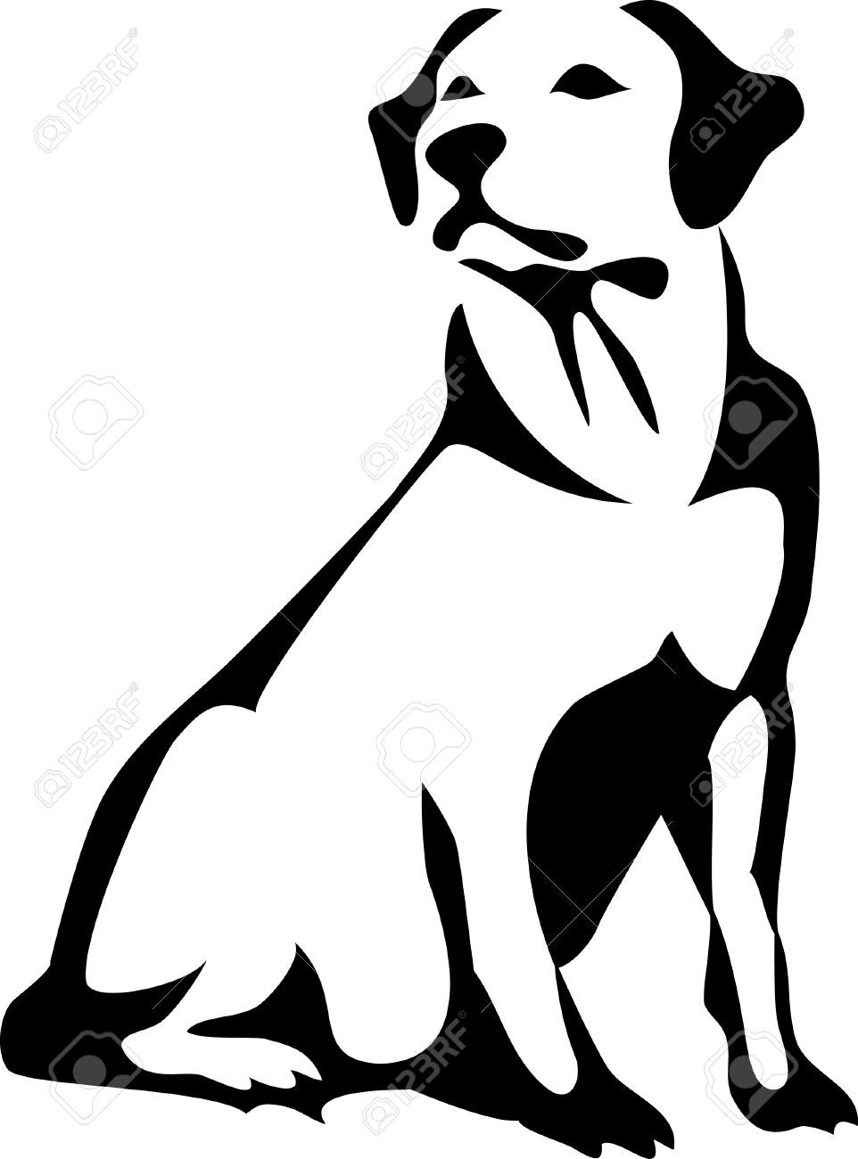 Related Image Dog Vector Dog Outline Linocut