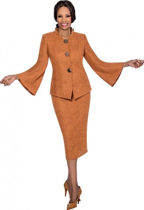 Terramina 7624 Ladies Bell Sleeve Church Suit In 2018 Terramina