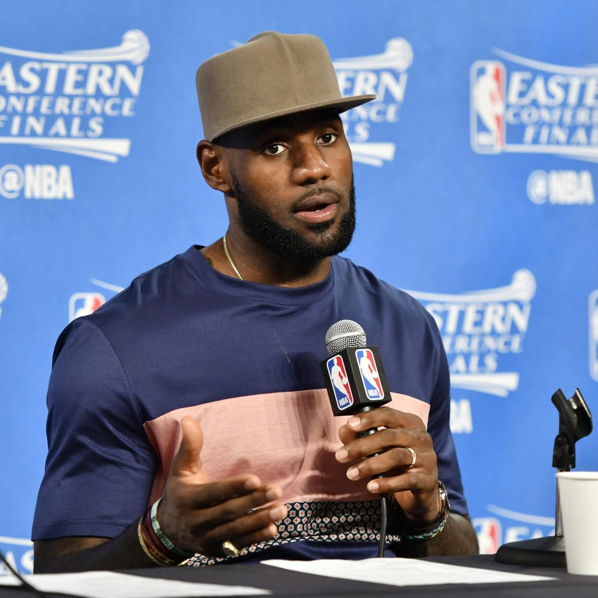 bit.ly/2oskBis LeBron James Talks Cavaliers' Game 3 Loss vs. Celtics, Calls out Reporter
