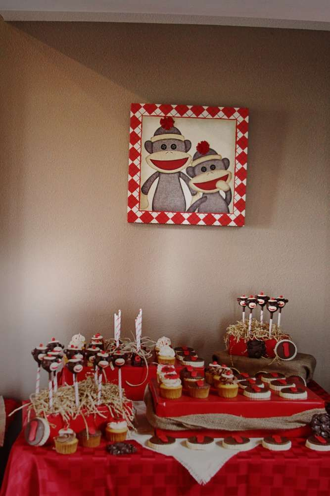 Sock Monkey Birthday Party Ideas | Photo 23 of 29 | Catch My Party