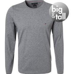 Photo of Tommy Hilfiger T-Shirt a manica lunga da uomo, Big & Tall, Cotone, Grigio chiaro Heather Tommy Hilfiger