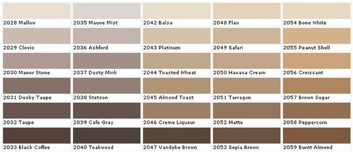Beige Paint Sample Colors Chart 4