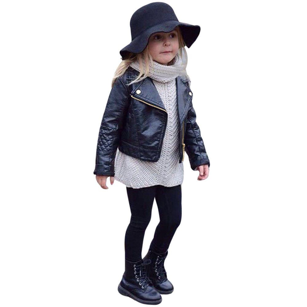 New Fashion Spring And Autumn Unisex Kids Coat Pu Leather Leather Coat For Baby Boys And Girls Short Children Jacket Clot Kids Outerwear Winter Outwear Clothes [ 1000 x 1000 Pixel ]