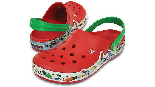 229554fdba Shop these Crocband Holiday Lights Clogs to stay festive during this  holiday season. Enjoy iconic Crocs comfort with a colorful band of lights.