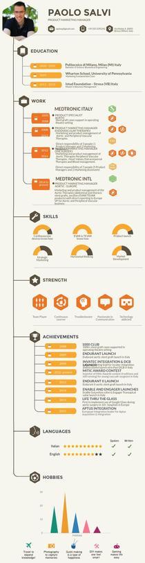 CV Paolo 2015 Piktochart Infographic Editor Resume Pinterest