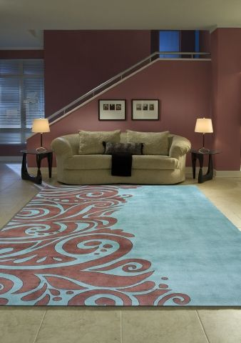 Momeni New Wave NW-88 Turquoise Contemporary Rug