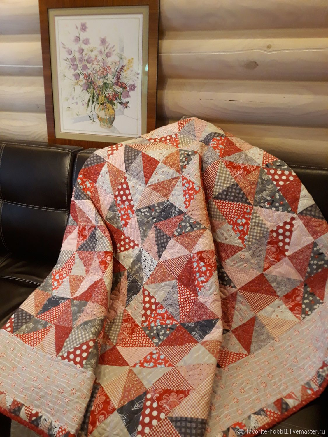 Best Patchwork Blanket 50 Shades Of Gray And Red パッチワークキルト 400 x 300