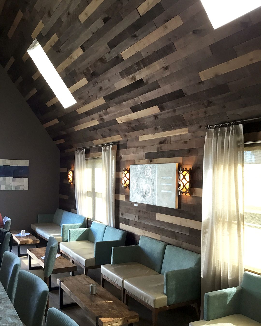 Our Weathered Wall Boards Were Used To Create This