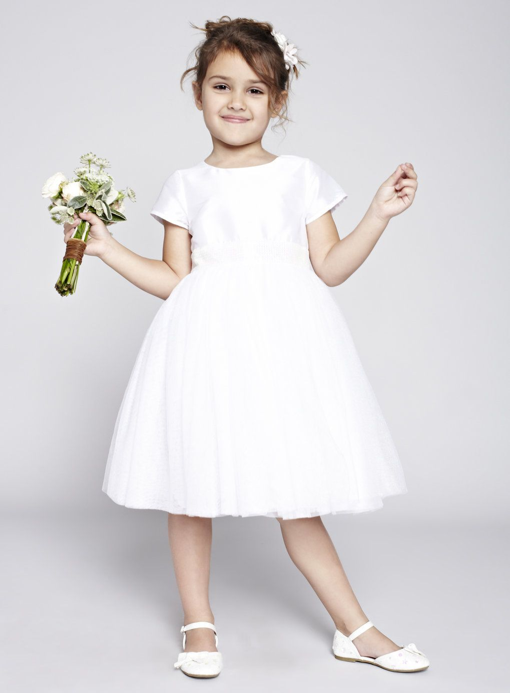 Alexa White Flower Girl Dress - BHS | Wedding ideas | Pinterest ...