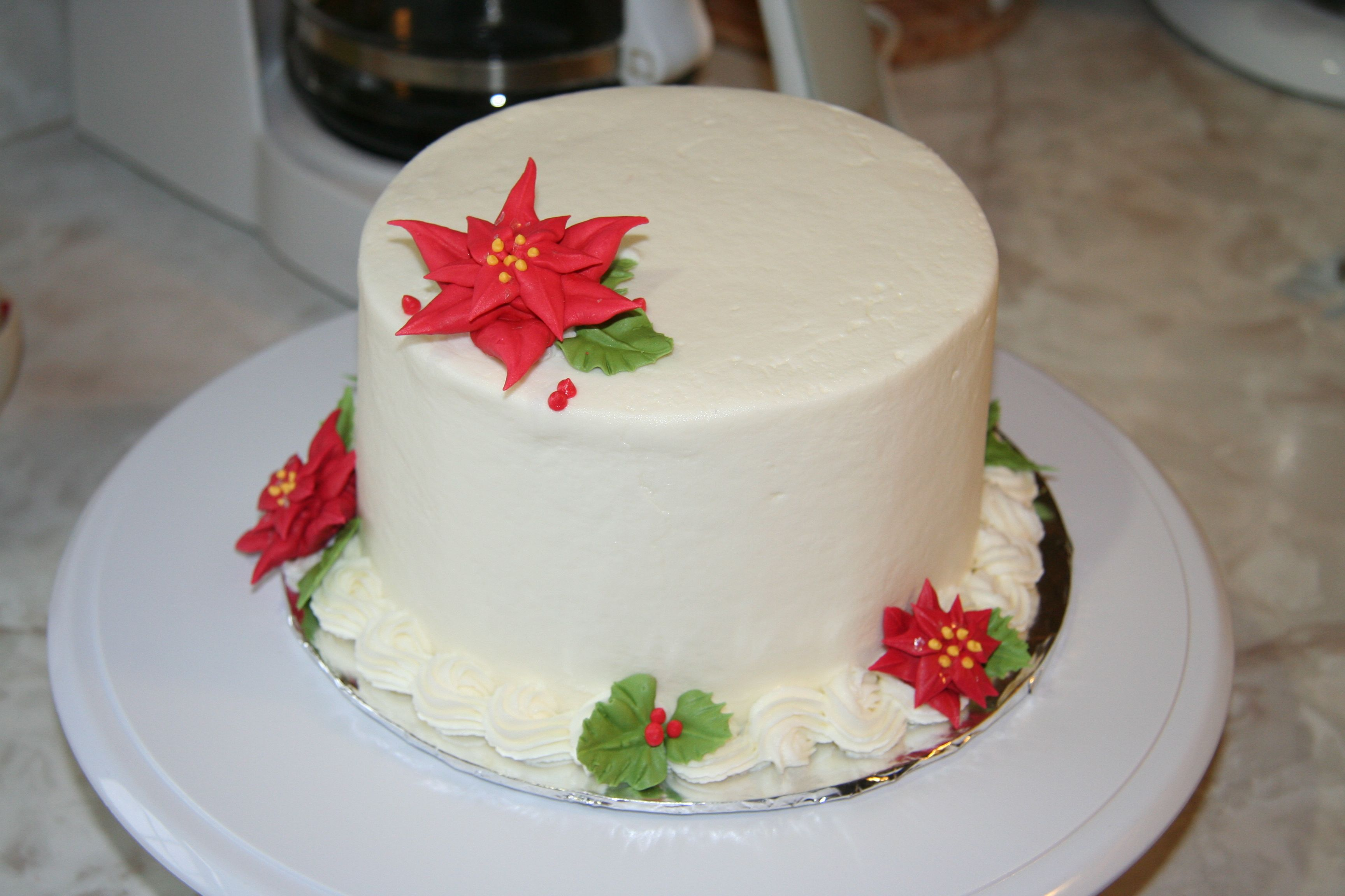 A customer ordered a WASC cake w/ almond flavored buttercream icing ...
