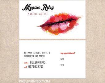Salon Business Cards Makeup Artist Card Studio Cosmetology