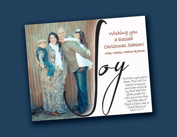 6x75 JOY Christmas Card Template Photoshop sized by happyhippos