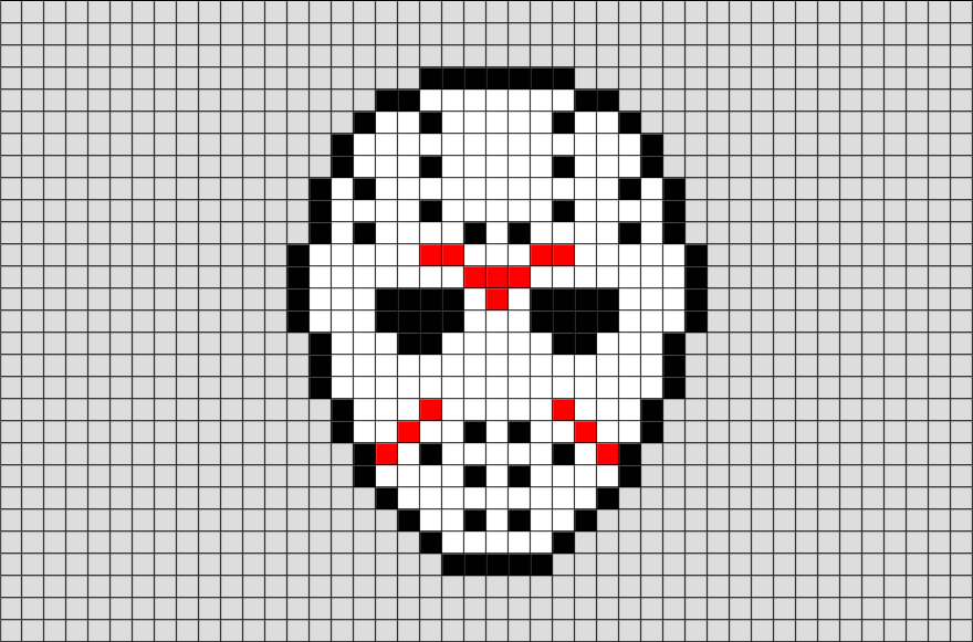 Pixel Art Design : Friday the th mask pixel art from brikbook