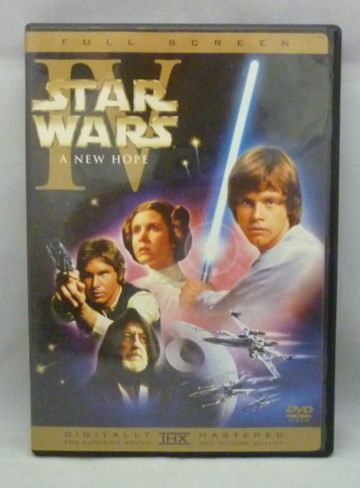 Official Star Wars Episode Iv A New Hope Dvd Fullscreen 2004 Edition Oop Rare Star Wars Episode Iv Star Wars Music Star Wars Episode 4