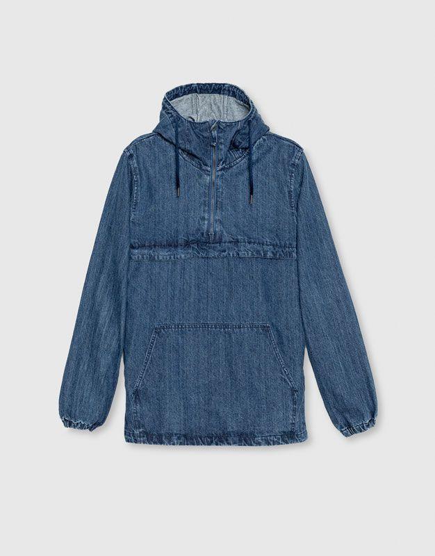 pull bear man new clothing pouch pocket denim. Black Bedroom Furniture Sets. Home Design Ideas