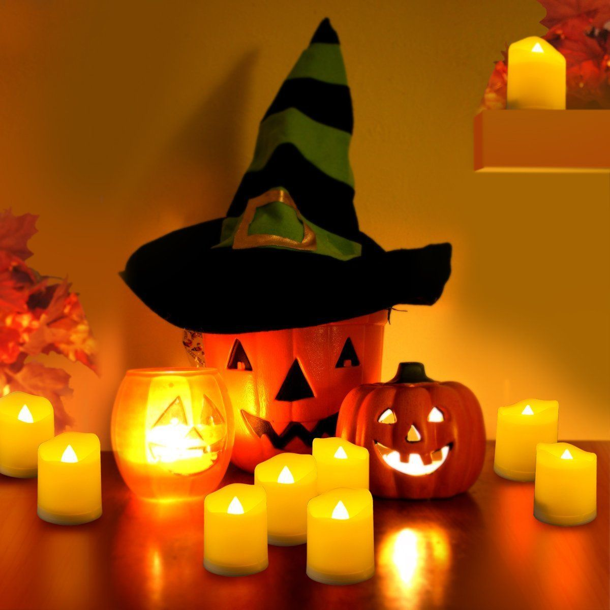 homemade halloween decorations : flameless candles led tealights