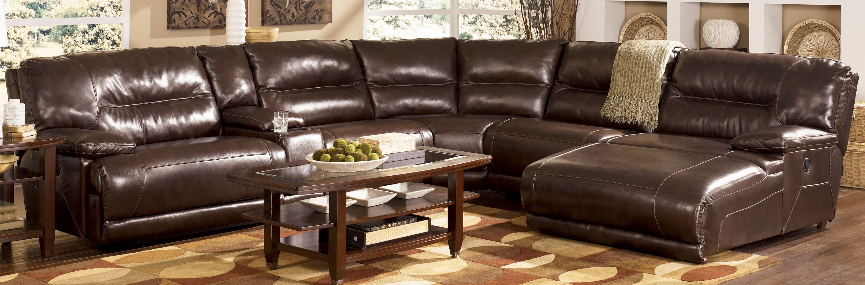 Best Brown Leather Sectional With Chaise Bing Images 400 x 300