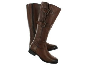 Clarks Womens MULLIN SPICE tall tan leather boot