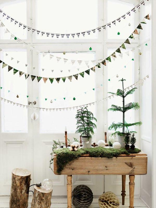 Fensterdeko f r weihnachten wundersch ne dezente und tolle beispiele dekoideen pinterest - Minimalistisch dekorieren ...