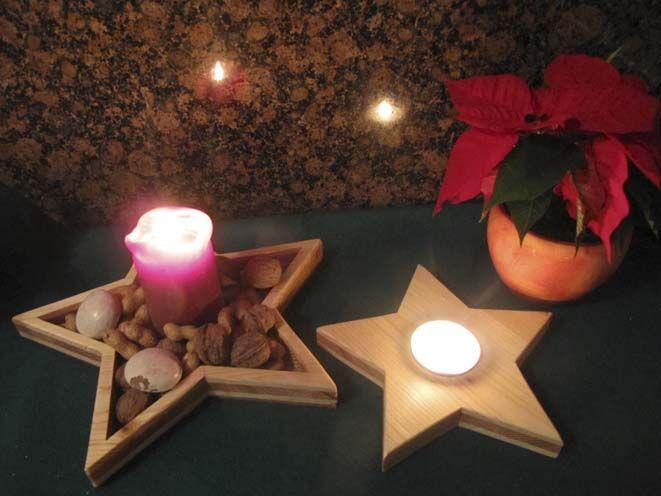 Sternenschale für Nüsse und ein Teelichthalter XXL - oder aus...