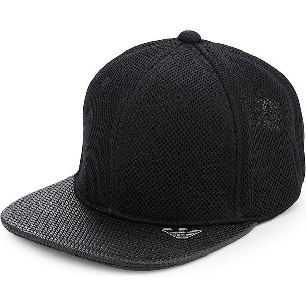 dc16768ed75 Armani Jeans Mesh baseball cap ( 56) ❤ liked on Polyvore featuring  accessories