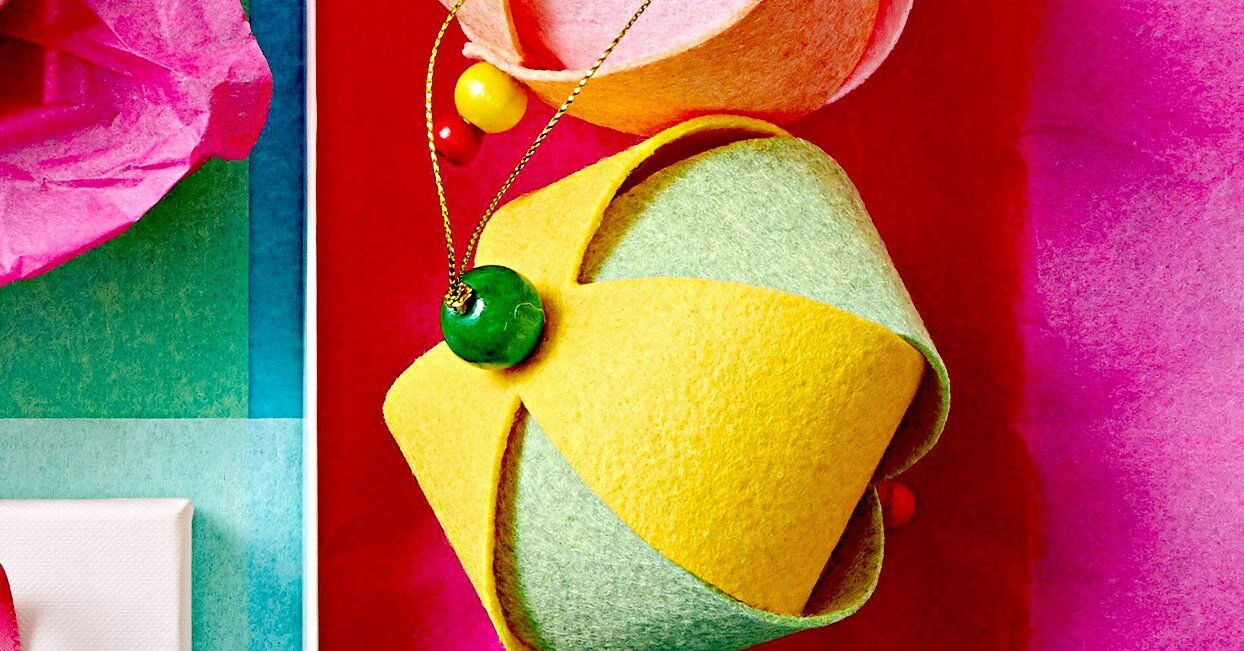 These Colorful Diy Felt Ornaments Will Instantly Brighten Your Christmas Tree In 2020 Felt Ornaments Diy Christmas Ornaments To Make Easy Christmas Ornaments