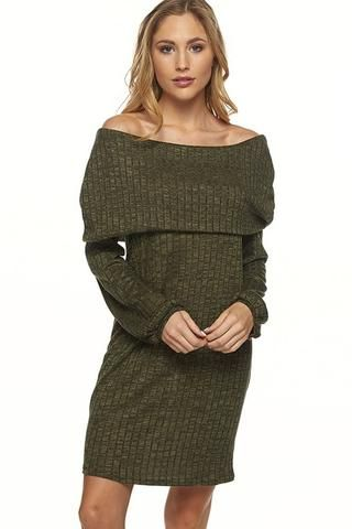 e4cdafe4a2 fall outfit ideas  off the shoulder sweater dresses and over the knee boots