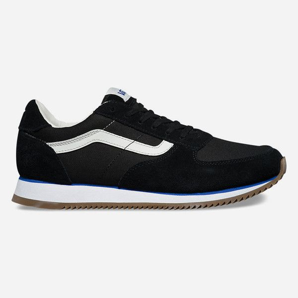 Vans Og Runner Womens Shoes 85 Liked On Polyvore Featuring Shoes Athletic Shoes Real Leather Shoes Leather Shoes Ath Retro Running Shoes Vans Sneakers