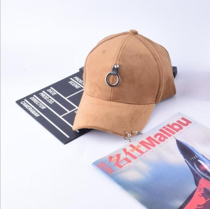 8455836a9b5 Punk wind faux suede baseball cap Pure color for men and women winter  outdoor sports cap