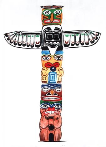 create your own art lessons the sparkle way part ii totems rh pinterest com tiki totem pole clipart