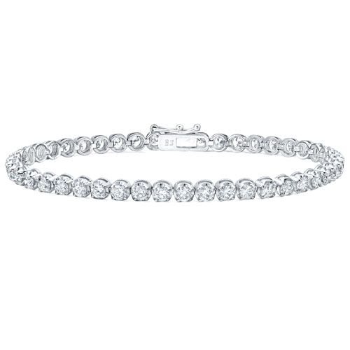 5 ct. tw. Round Diamond Basket-Set Tennis  - Price tag: $5,000... Available at Capri Jewelry Inc. here: