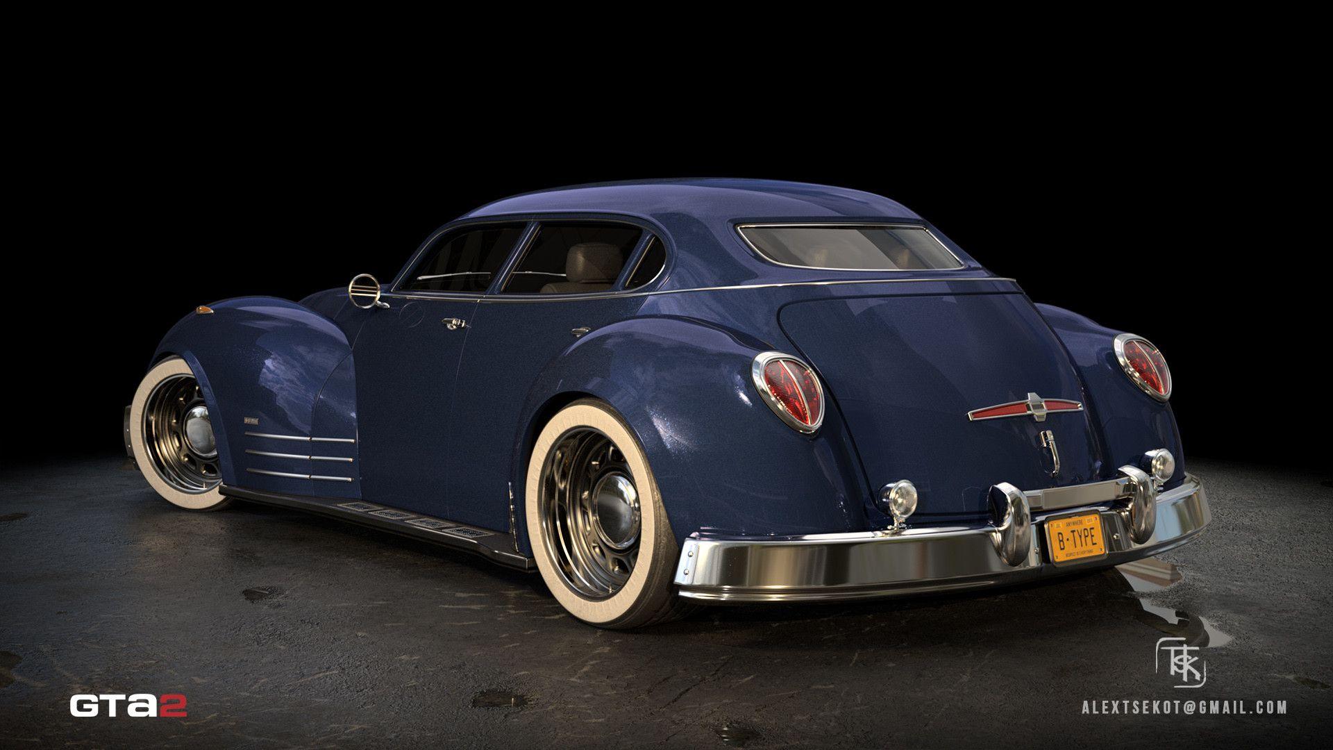 ArtStation GTA 2 BType, Alex Tsekot Concept cars