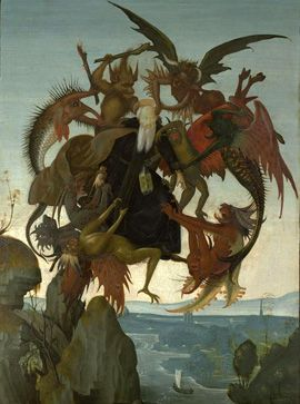 Michelangelo's first painting, the Torment of Saint Anthony, c. 1488