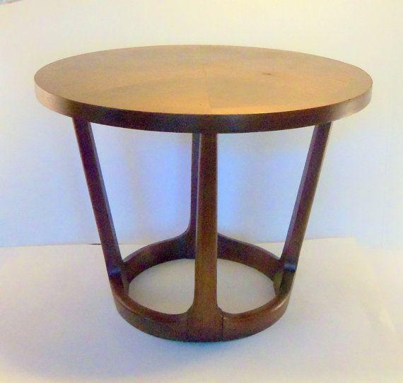 Walnut Side Table Vintage Lane Rhythm Round End By