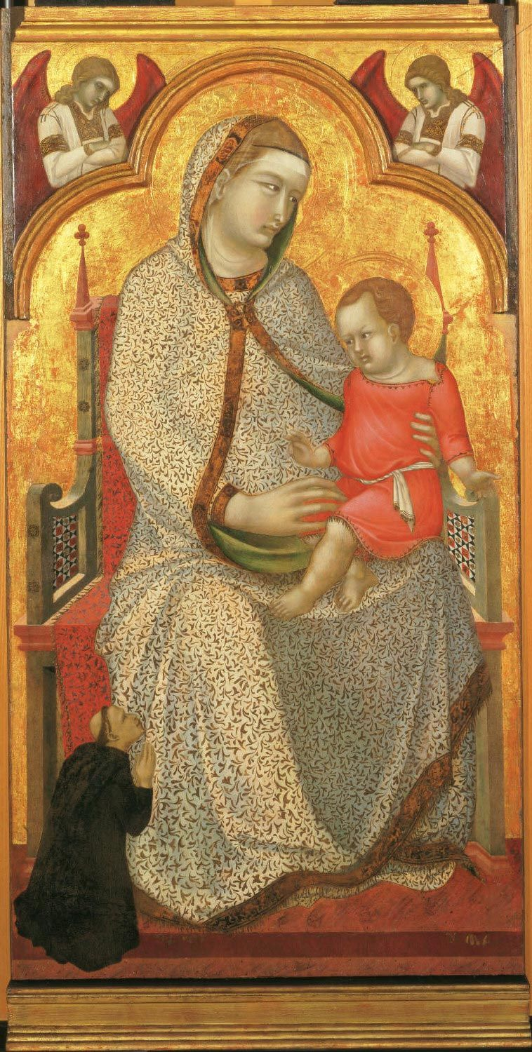 Virgin And Child Enthroned And Donor Angelspietro Lorenzetti Philadelphia Museum Of Art Google Art Project Philadelphia Museum Of Art Art
