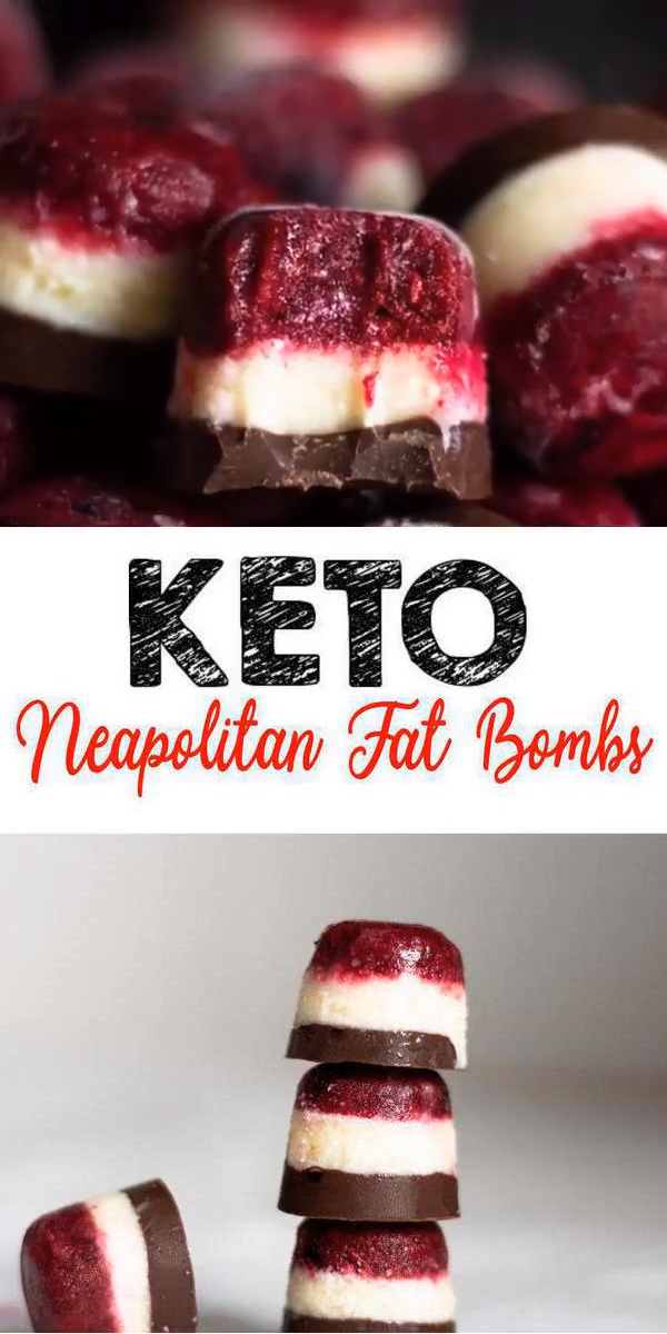 Keto Fat Bombs – BEST Low Carb Keto Neapolitan Fat Bombs – Easy NO Sugar Low Carb Recipe images