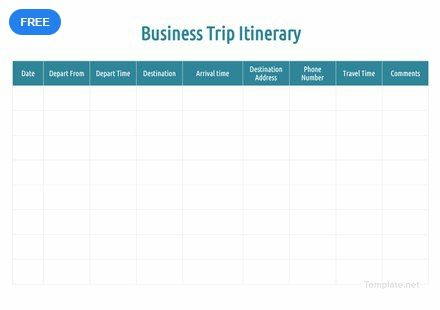 free business trip itinerary in 2018 itinerary templates designs