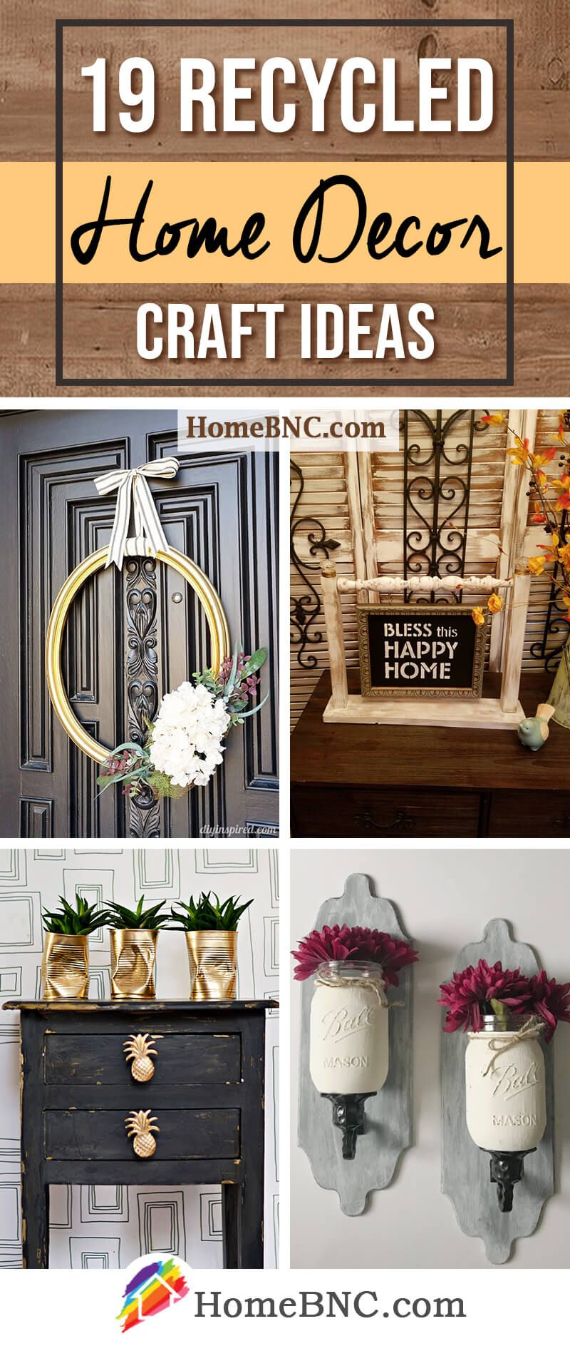 19 Recycled Home Decor Crafts For A Budget Friendly Upgrade