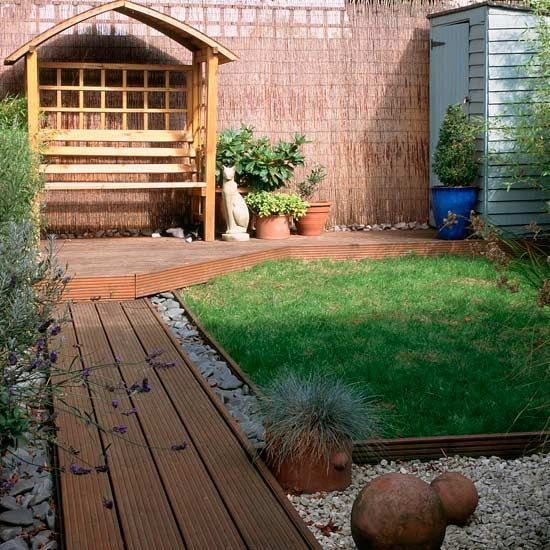 railway sleepers small garden design ideas small patio deck jardin pinterest railway sleepers small garden design and small patio