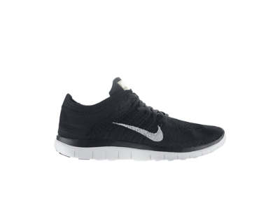 Nike Free 4.0 Flyknit Women's Running Shoe $120 | new plan, I'll wear the purple free's I've got as commuting shoes for the next month. If I walk daily and it works out for the month, I'll cancel my bus pass and upgrade to a sweet black pair like this.