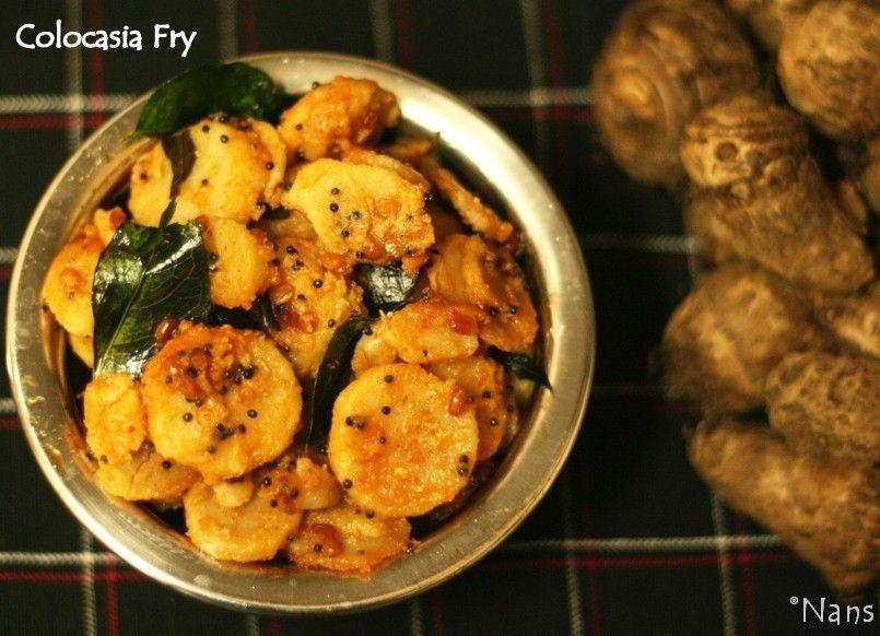 Colocasia Fry | Mandya Upkari | Konkani Dish | Food - Amchigele