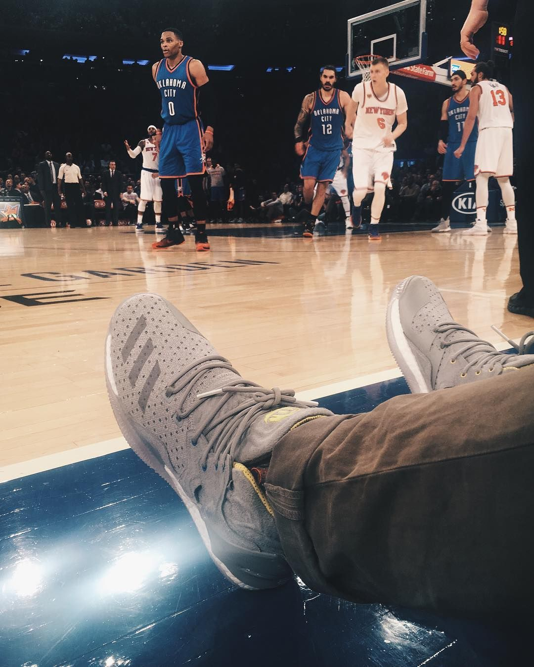 finest selection f5130 34bbb The Sneakersnstuff x adidas Consortium D Rose 7 PK is now available online.  Here worn by erikfagerlind at the Knicks game earlier tonight at the  Garden.