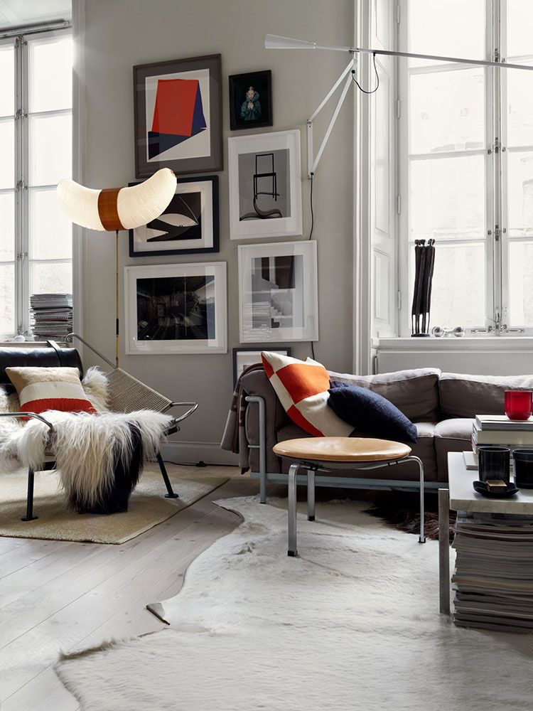 Photo of 〚 Swedish apartment with contrast accents and open storage 〛