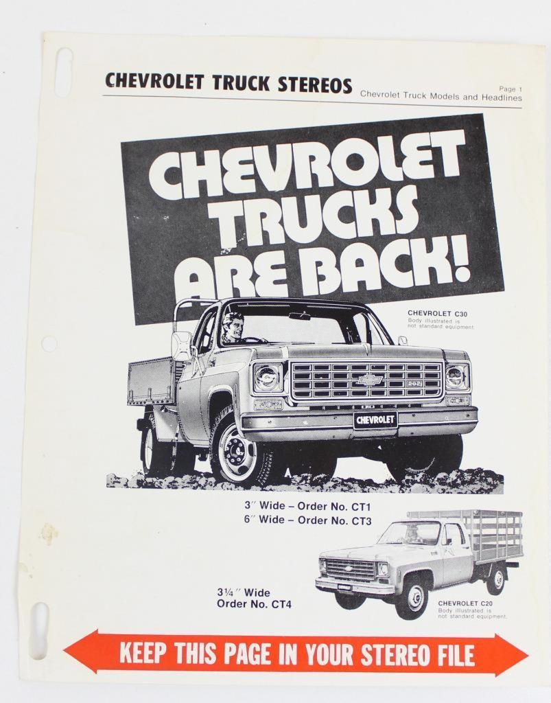 Launch Of The C20 C30 Chev Trucks In Australia About 1973 4 292 Six Cylinder Only Till 1979 80 Run Out When 350 V8 Was Truck Stereo Trucks Chevrolet Trucks