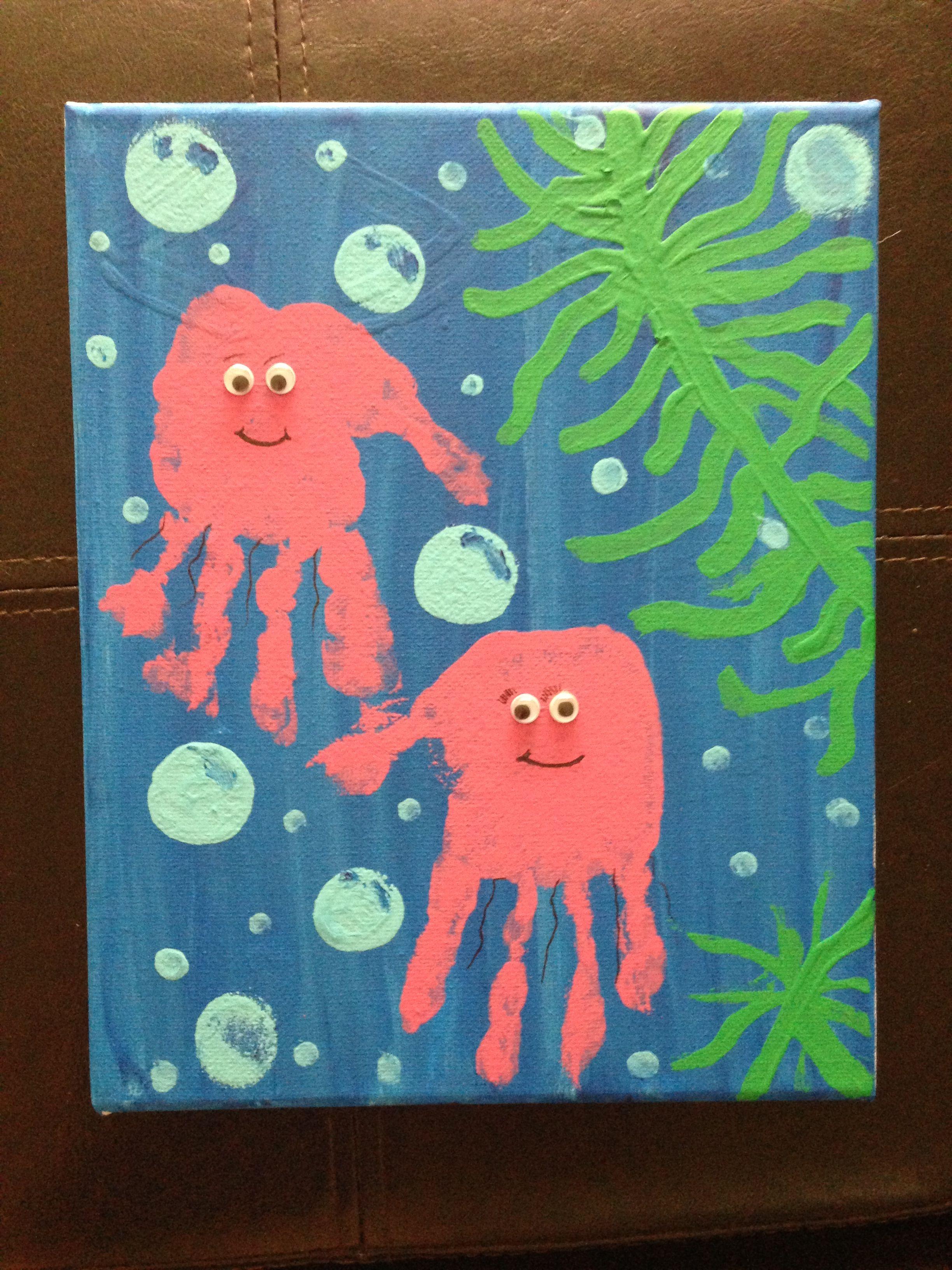 Jelly Fish Handprints