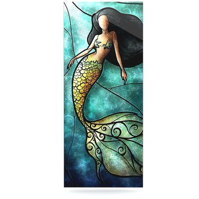 "East Urban Home 'Mermaid' Graphic Art Print on Metal Size: 20"" H x 16"" W x 1"" D"