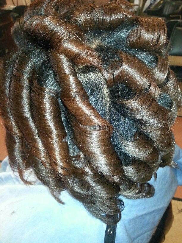 Natural flat iron curls.
